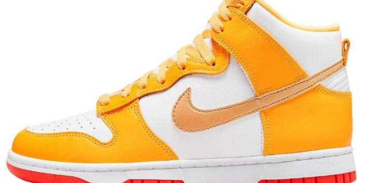 Lastly Nike Dunk High Dress Up With Laser Orange Overlays